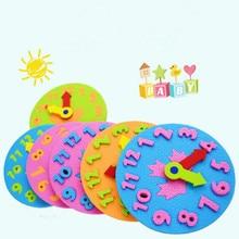 Toys Clock Teaching-Aids EVA Manual Kindergarten Early-Learning Education Diy Baby Kids