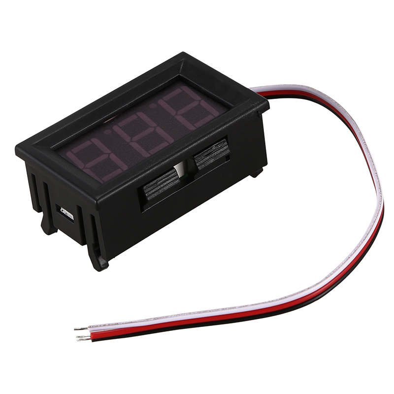 Mini voltmeter tester Digital voltage test battery <font><b>DC</b></font> <font><b>0</b></font>-<font><b>30V</b></font> red auto car Promotion image