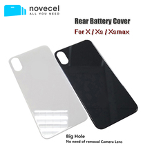Novecel 5pcs/lot Big Hole Rear Battery Cover For iPhone Xsmax Xs X Series Phone Cases Housing Back Cover Replacement