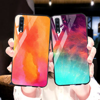 silicone case Tempered Glass Case For samsung galaxy A70 M10 M20 M30 Cases Space Silicone Covers for samsung A7 2019 A70 M10 M20 M30 cover (1)