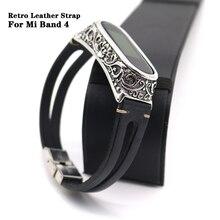 Bracelet pour Xiaomi Mi Band 4 Bracelet de montre en cuir véritable pour Mi Band 5 Bracelet accessoires pour Xiaomi Band 4 Bracelet