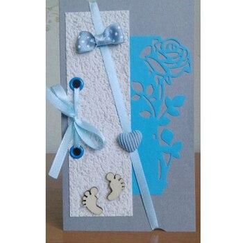 Rosa flor de corte de metal dades borboleta morral scrapbooking para artesanato...