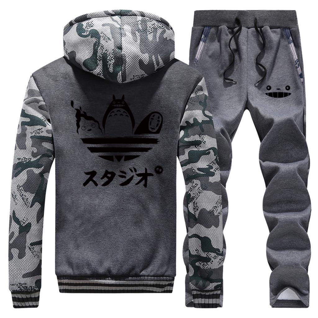 Funny Japanese Anime Dragon Ball Fleece Streetwear Capsule Corp Hoodies Pant Sets Men Casual Plus Size Sportswear Streetwear