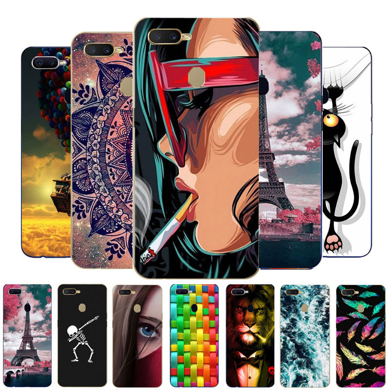 Case For OPPO A5S Phone Case OPPO AX5S Cover Silicone Soft TPU Back Cover For OPPO A5S CPH1909 A 5S Case Protective AX 5S Funda