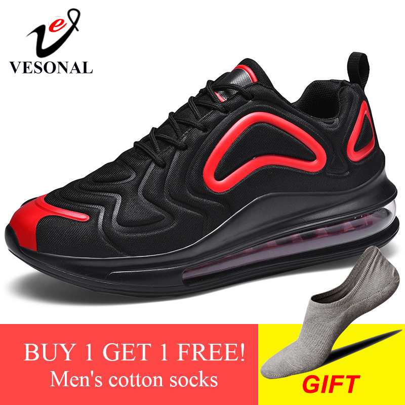 VESONAL Brand Breathable Lycra Unisex Running Shoes For Casual Sneakers Men Shoes Adult Footwear Autumn Quality Walking Shoes-in Men's Casual Shoes from Shoes
