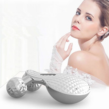 New Quality 3D face roller massager microcurrent facial massager electronic face beauty bar pulling tight skin lift tools цена