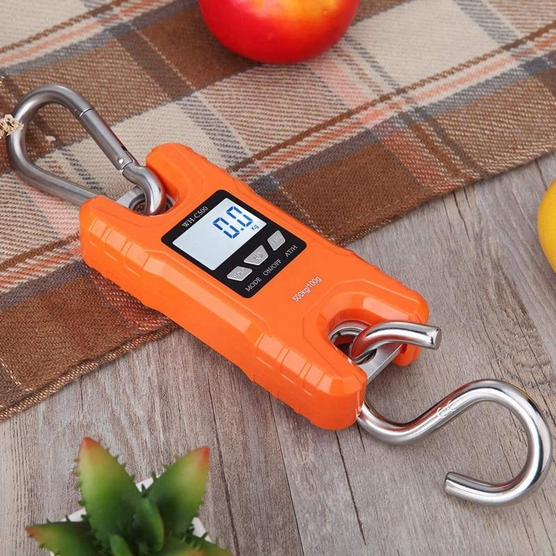 SHGO HOT-Mini balance de grue Portable 500Kg/1000 Lb balances suspendues numériques robustes affichage LCD avec rétro-éclairage pour la maison ferme M