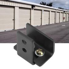 Черная сталь, оборудование для дверей сарая, настенный ролик, направляющий, раздвижные, напольные, настенные направляющие с винтами, раздвижные