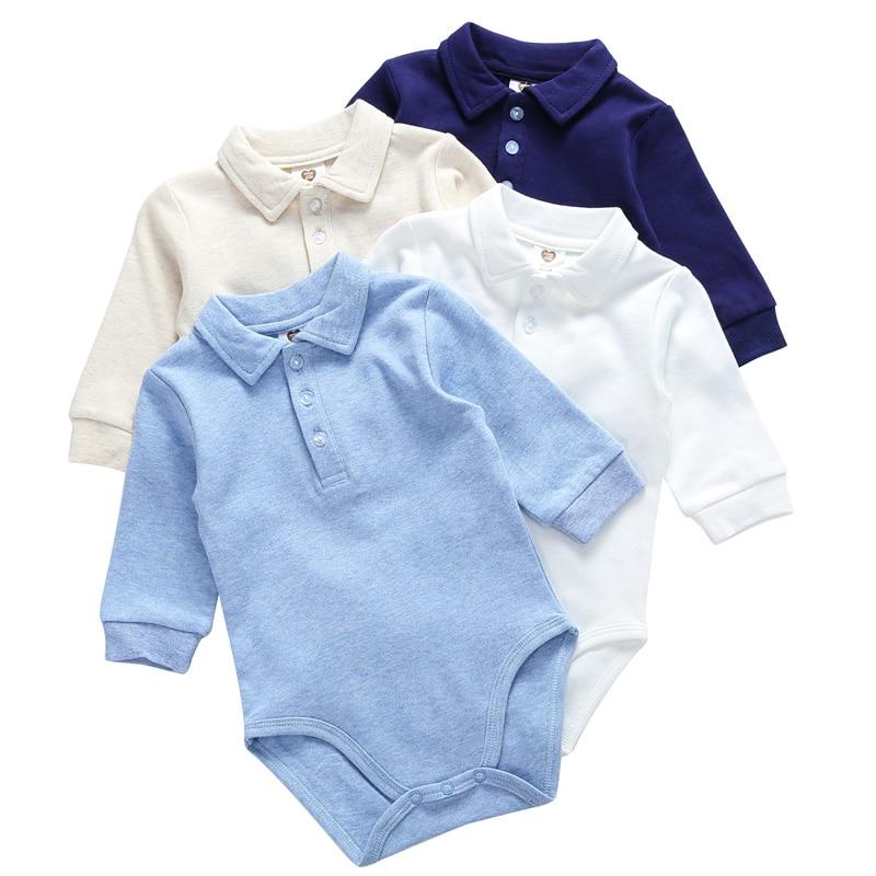 Roupas de bebê 100% algodão bodysuit 0-3y outono inverno roupas de bebê recém-nascido para meninos manga longa crianças macacão bebê meninos roupas