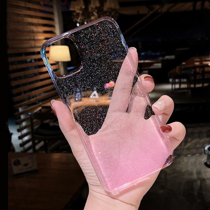 Clear Glitter Transparent Soft Case For Huawei P40 P30 P20 Lite Pro Mate 20 10 P Smart 2019 Y9 Honor 20 Pro 8X 10I 9 Lite Nova 5