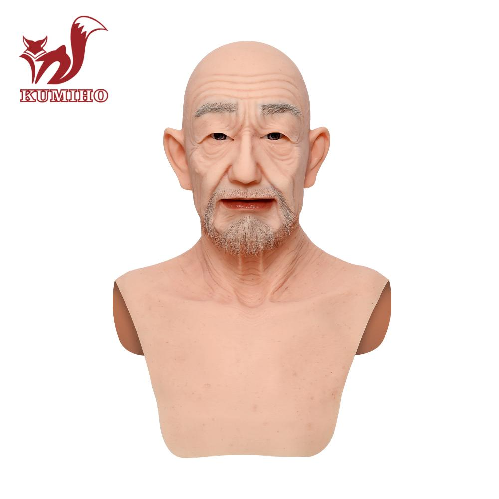 KUMIHO Old William High Quality Realistic Silicone Masks For Man Full Head Masks Easy Makeup Cosplay Props With Skin Texture