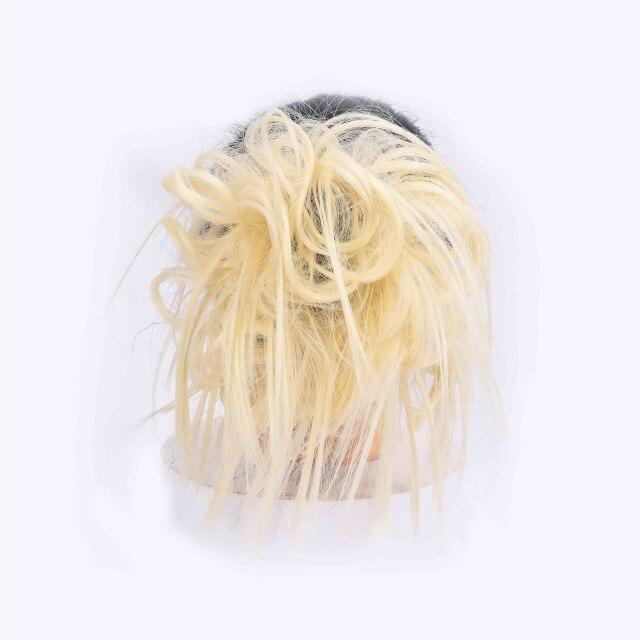 Lupu синтетические мягкие волосы кудрявый пучок женщин кудрявый Грязный серый коричневый цвет волос лента парик шиньон - Цвет: 613
