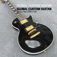 High quality China electric guitar,black electric guitars,Mahogany body ,Golden Hardware, free shipping