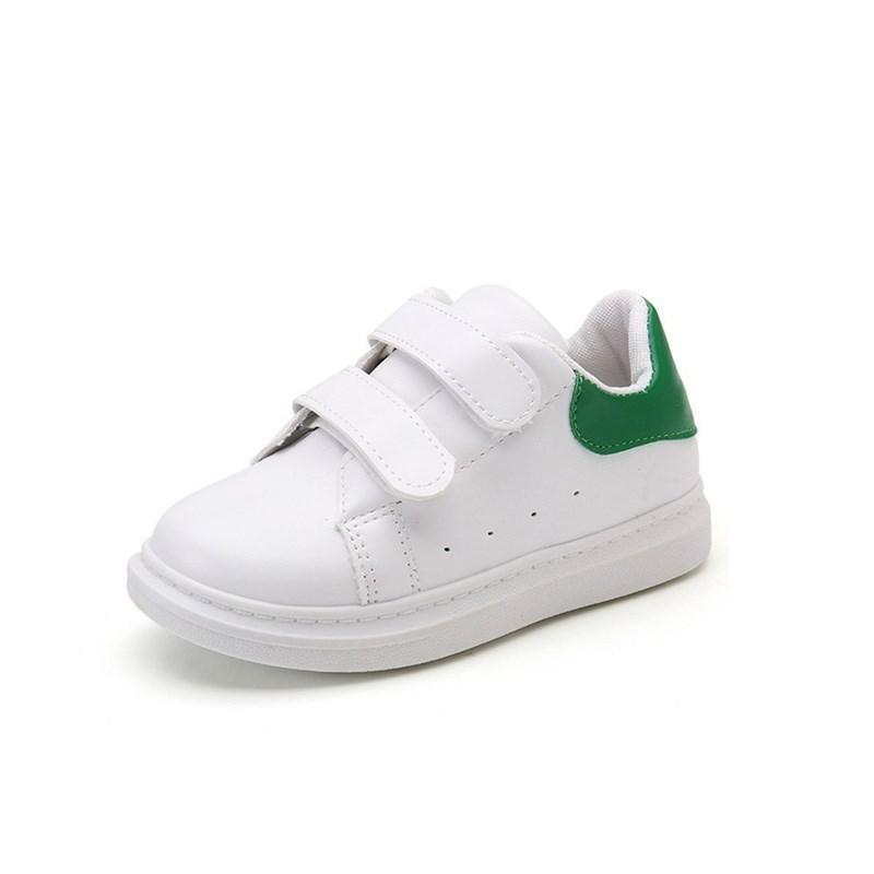 Spring Girls Boys Sport Shoes Antislip Soft Bottom 2019children Baby Sneaker Casual Kids Flat Sneakers School White Canvas Shoes