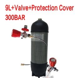 Acecare 9L CE Scuba Tank 4500psi Carbon Fiber Gas Cylinder for Diving Balloon Compressed Air Tank Air Rifle Pcp Condor Valve