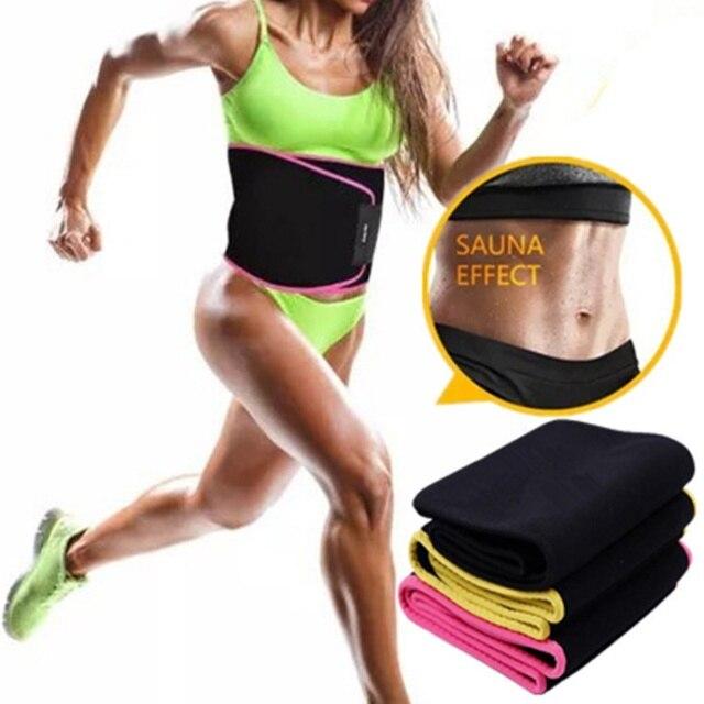 Waist Trimmer Belt Weight Loss Sweat Band Wrap Fat Tummy Stomach Sauna Sport Waist Support Waistband Running Gym Fitness Belts