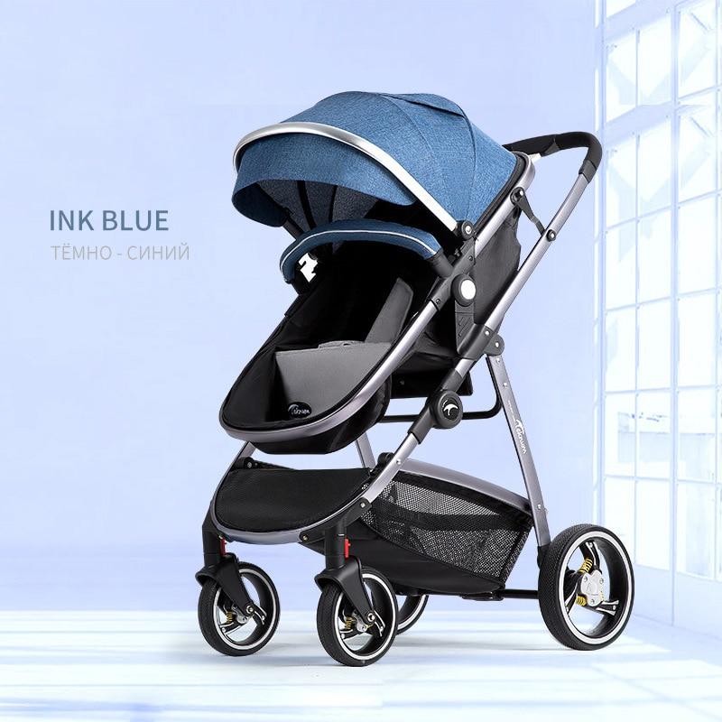 Baby Stroller High Landscape Stroller Can Sit Reclining Two-way Shock Folding Lightweight Newborn Cart
