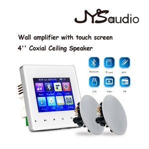 Salle de bain dans le haut-parleur de plafond amplificateur mural Bluetooth avec petite taille étanche toit haut-parleur pour salle de bain son système de musique