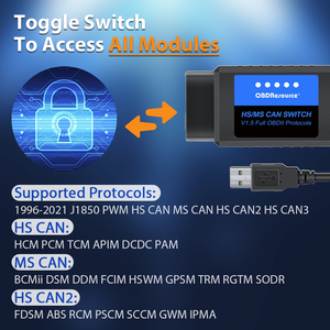 Image 3 - OBDResource ELM327 USB V1.5 FORScan for Ford Mazda Lincoln Mercury Coding ELMconfig FoCCCus HS MS CAN Switch F150 F250 F350 F450