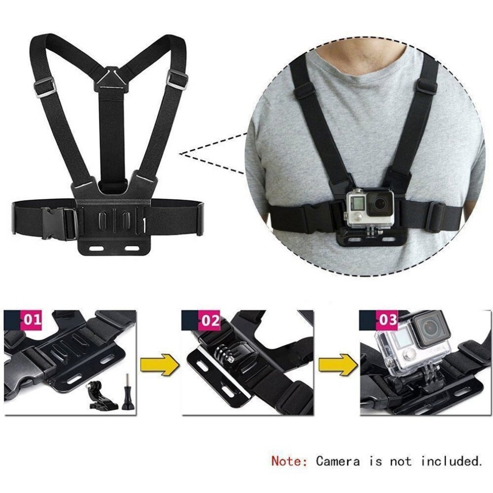 GoPro Accessories Adjustable Chest Mount Harness Chest Strap Belt for GoPro HD Hero 8 7 6 5 4 3+ 3  SJ4000 SJ5000 Sport Camera 2