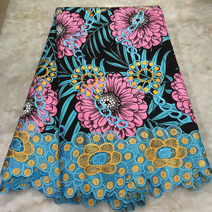 Lace-Wax Embroidery Prints-Fabrics Dutch Pagne Ankara African with New 100%Cotton