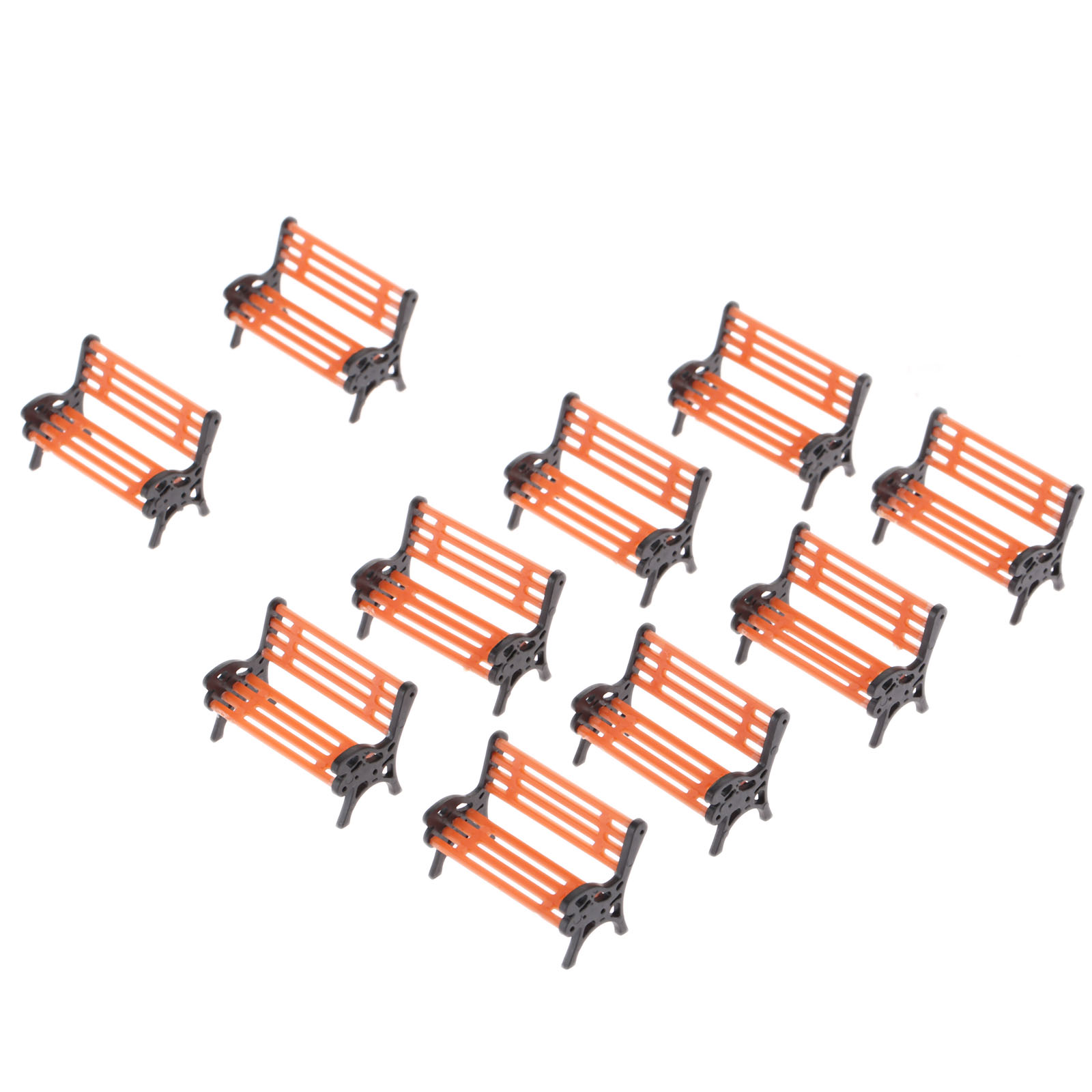 10PCS Modell <font><b>Park</b></font> Bench 1:50 <font><b>Mini</b></font> Garten Ornament Miniatur <font><b>Park</b></font> Bench Handwerk DIY Figuren Landschaft Bench Modell Garten Decor image