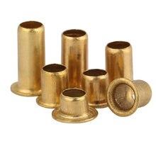 Ilhós vias rebites tubulares ocos de bronze m0.9 1.3 1.5 1.7