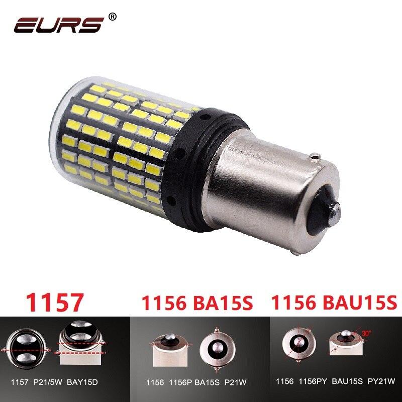 1 шт. 1157 светодиодный Canbus BAY15D S25 1156 P21W BA15S светодиодный BAU15S PY21W T20 светодиодный 7440 7443 W21W 1157 светодиодный лампы без Hyper Flash lights