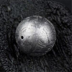 14 мм настоящий природный Gibeon Железный метеорит молдавит незакрепленный круглый серебряный один шарик аксессуар для DIY браслет ожерелье AAAAA