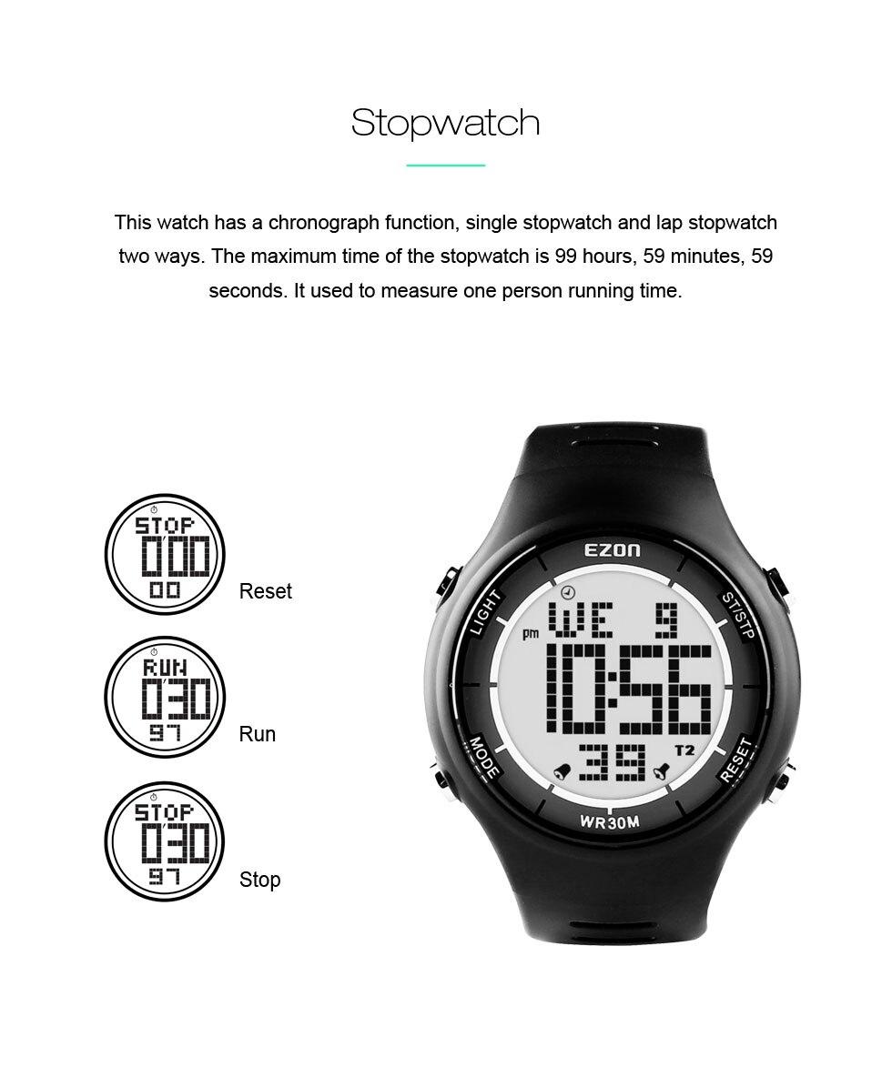 Digital esporte ao ar livre correndo relógios