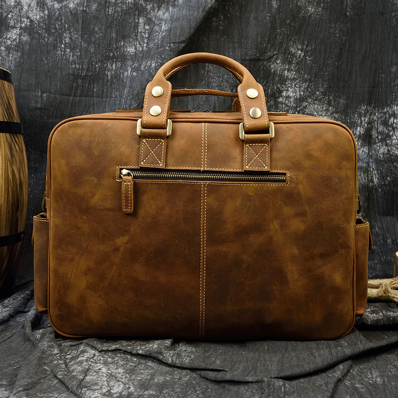 """Hd70ae14db4414c2d9e64b3d30ebb05a4d MAHEU Men Briefcase Genuine Leather Laptop Bag 15.6"""" PC Doctor Lawyer Computer Bag Cowhide Male Briefcase Cow Leather Men Bag"""