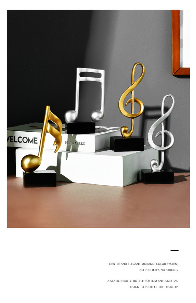 Musik Dekoration Noten Violinschlüssel