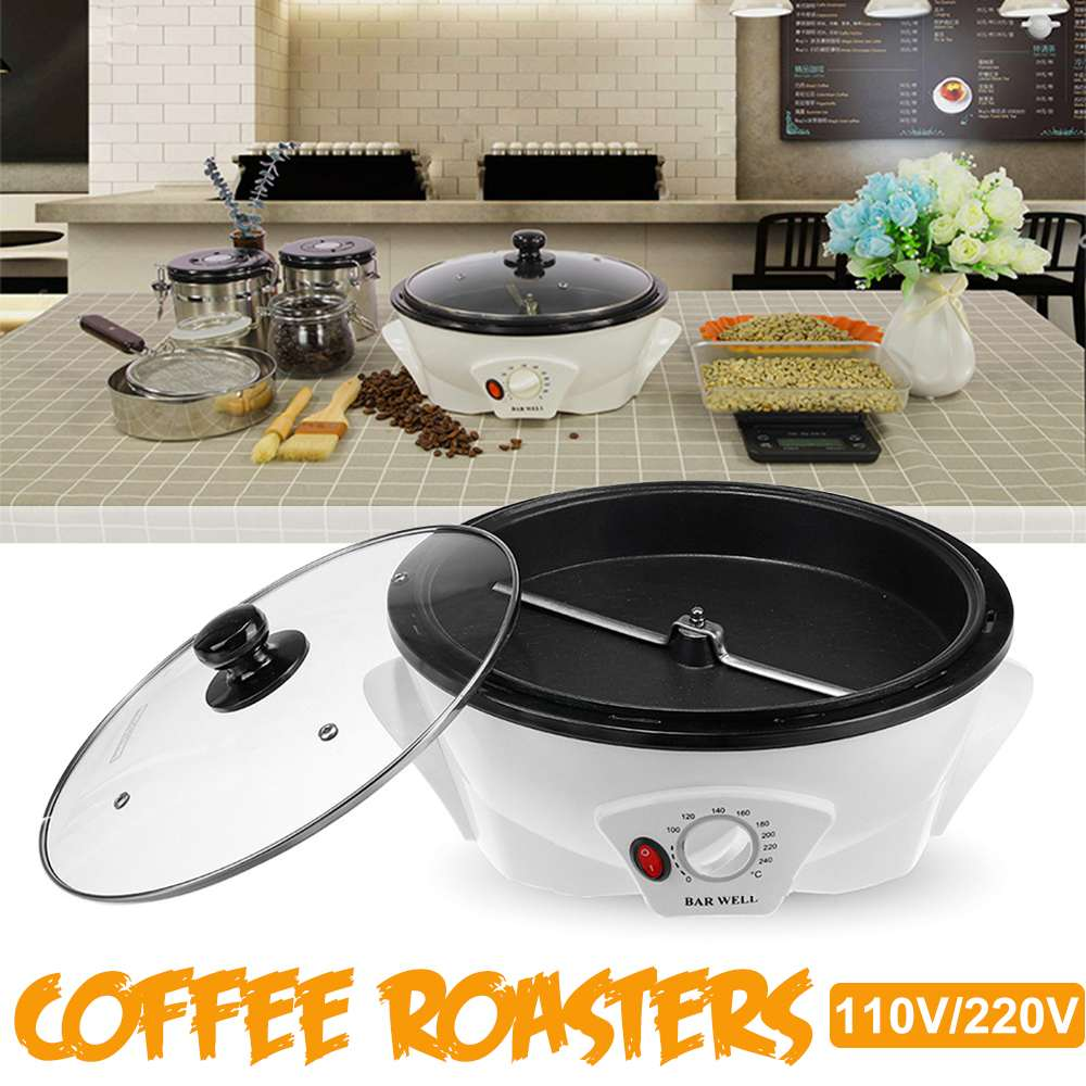 110V/220V Electric Coffee Roasters Beans Home Coffee Machine Roaster Non-stick Coating Baking Tools Household Grain Drying(China)