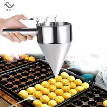 VOGVIGO Japanese Takoyaki Fish Meat Balls Stainless Steel Funnel Kitchen Tools Including Funnel Rack Kitchen Gadgets Accessories