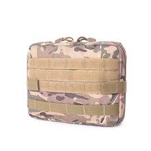 Nylon cp Camouflage Tactical Pouch Large Magazine Organizer Utility Phone Medic Belt Bag