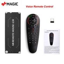 G30 voix télécommande 2.4G sans fil Air souris 33 touches IR apprentissage gyroscope détection télécommande intelligente pour H96MAX X96MAX Smart TV BOX