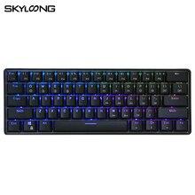 Клавиатура Механическая SKYLOONG GK61S, 61 клавиша, клавиши ABS, клавиши горячей замены, RGB подсветка, Bluetooth, Беспроводная игровая клавиатура для рабо...