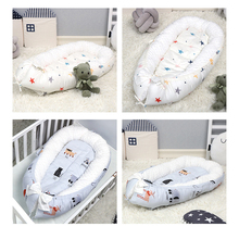 Portable Baby Nest Newborn Crib Cradle Pillow Cushion Removable Bed Infant Cradle baby travel outdoor Crib BTN004