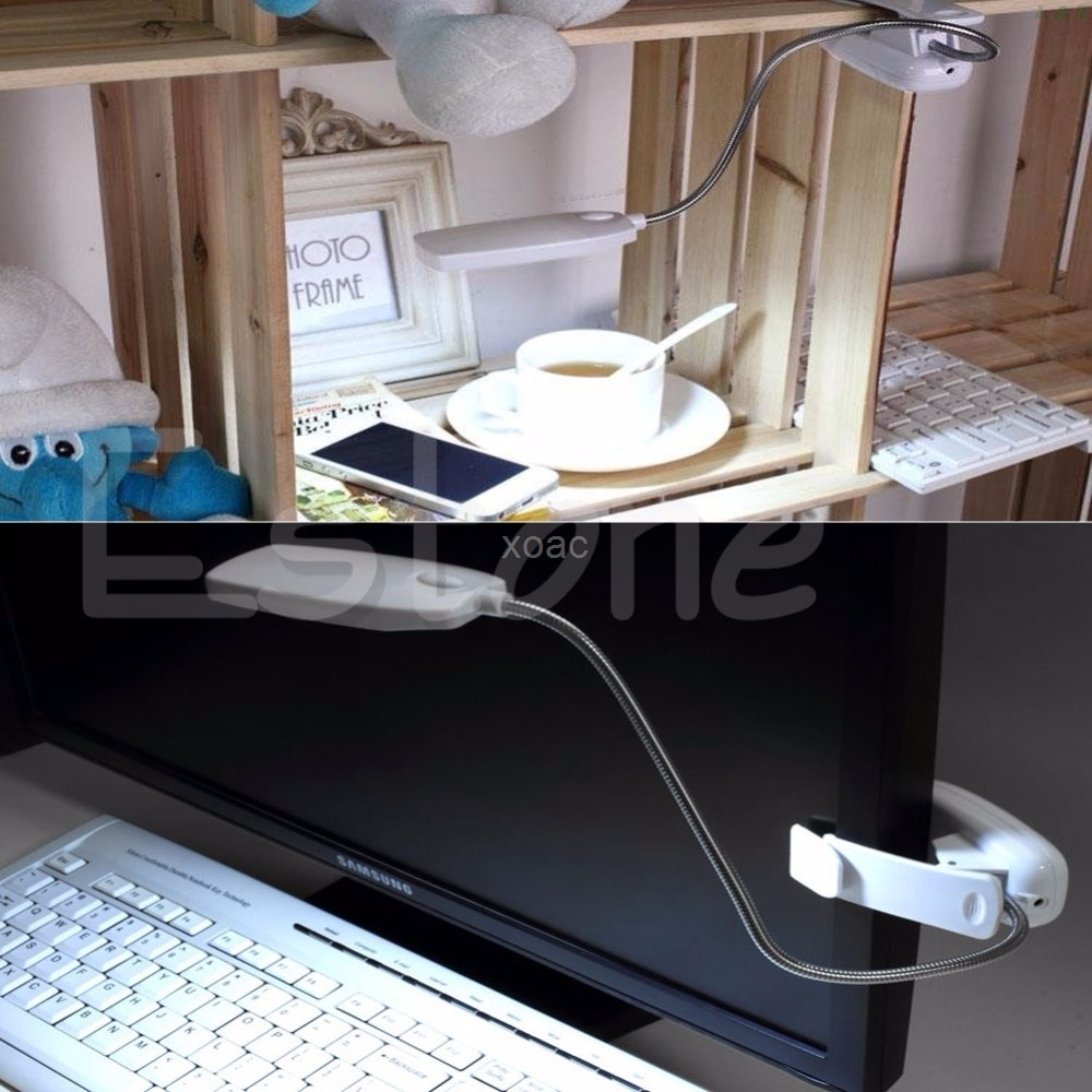 Flexible USB 28 LED Lamp Book Lights Clip-on Beside Bed Table Desk Reading Book Lamp   M12 dropship 5