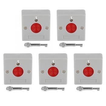 5 piezas interruptor de parada de emergencia Dispositivo de botón de alarma DC12V Inicio de seguridad de fuego boton de panico sos botón