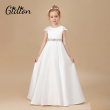 Girl Princess Dress Sleeveless Floor Dress Christmas Party Dress Girls Baby Dresses Wedding Birthday Party Children Clothing