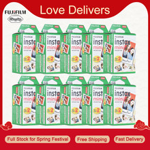 10-200 Fuji Fujifilm Instax Mini 11 9 8 7s 70 90 Films papier Photo bord blanc 3 pouces pour appareil Photo instantané avec chiffon de nettoyage