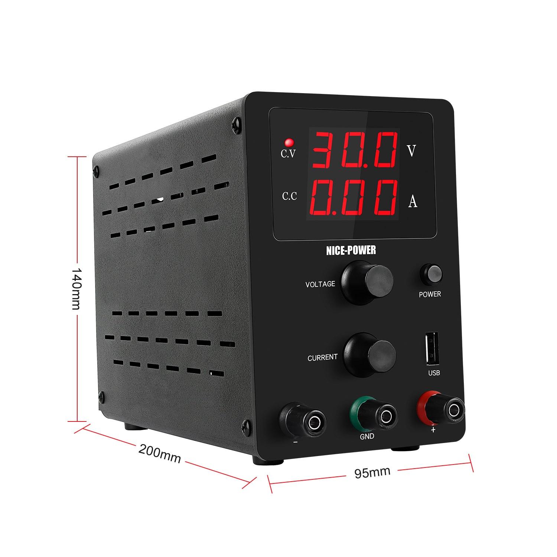 Nieuwe Usb Dc Laboratorium 60V 5A Gereglementeerde Lab Voeding Verstelbare 30V 10A Voltage Regulator Stabilisator Switching Bench bron 3