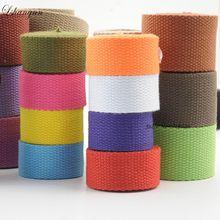5meter 25/30/38mm Canvas Webbing/Ribbon Bag Cotton Webbing Belt Knapsack Accessories Outdoor Backpack Parts DIY Craft For Home