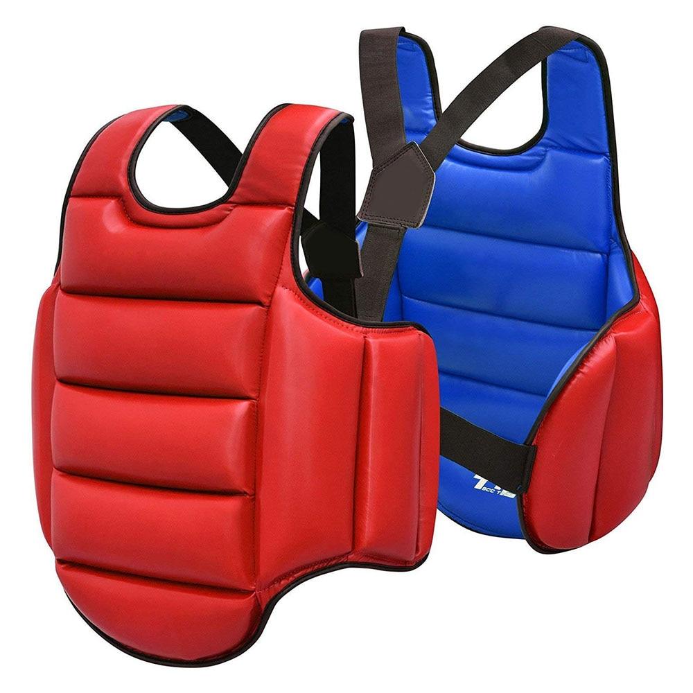 Chest Guard Boxing MMA Kickboxing Body Protector Martial Arts WTF Reversible Rib Shield Armour Taekwondo Target Training Uniform