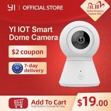 Caméra dôme intelligente 1080p alimentée par YI panoramique/inclinaison/Zoom sans fil Wi Fi IP caméra de Surveillance de sécurité YI Cloud