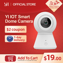 Smart Dome Camera 1080p Powered by YI Pan/Tilt/Zoom Wireless Wi Fi IP Cam Security Surveillance Camera YI Cloud