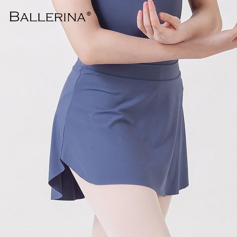 Ballet Skirt Dance Dress Ballet Dress Women Leotard Skirt Side Split Sexy Practice Skirt Ballerina 8143