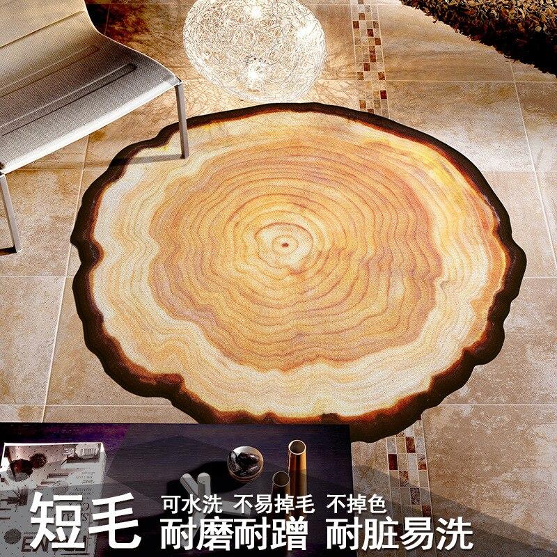 Personalisierte & Kreative Antique Baum Ring Kreis Teppich Schlafzimmer Wohnzimmer Tisch Abdeckung Computer Stuhl Korb zu Bahn Nacht Bl - 2