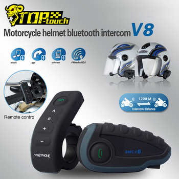 VNETPHONE Helmet Headset Motorcycle Intercom Moto 1200m Helmet Bluetooth Interphone FM 5 People at the Same Time Intercom V8 - DISCOUNT ITEM  49 OFF Automobiles & Motorcycles